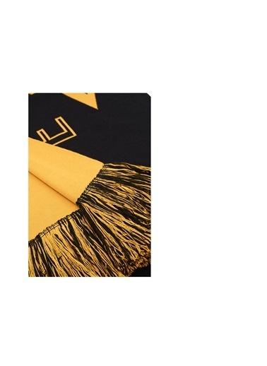 Armani Exchange Armani Exchange 6Hz42A Zms1Z 7241 Pamukkrilik Logo Baskılı Püskül Detaylı Erkek Şal Siyah